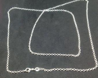 78cm Sterling Silver 925 mesh Rolo chain.