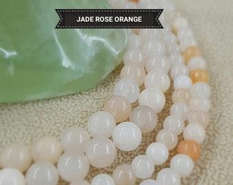 """Handmade 8 mm Naturel Lavande Jade Ronde Pierres Précieuses Perles Collier 22/"""" AAA"""