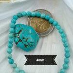TURQUOISE bracelet, natural stone bracelet, semi precious stone bracelet, elastic bracelet, woman bracelet, made in France