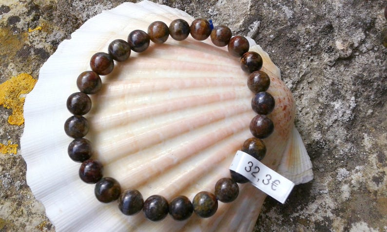 Pietersite AA 7mm round strap beads on elastic thread
