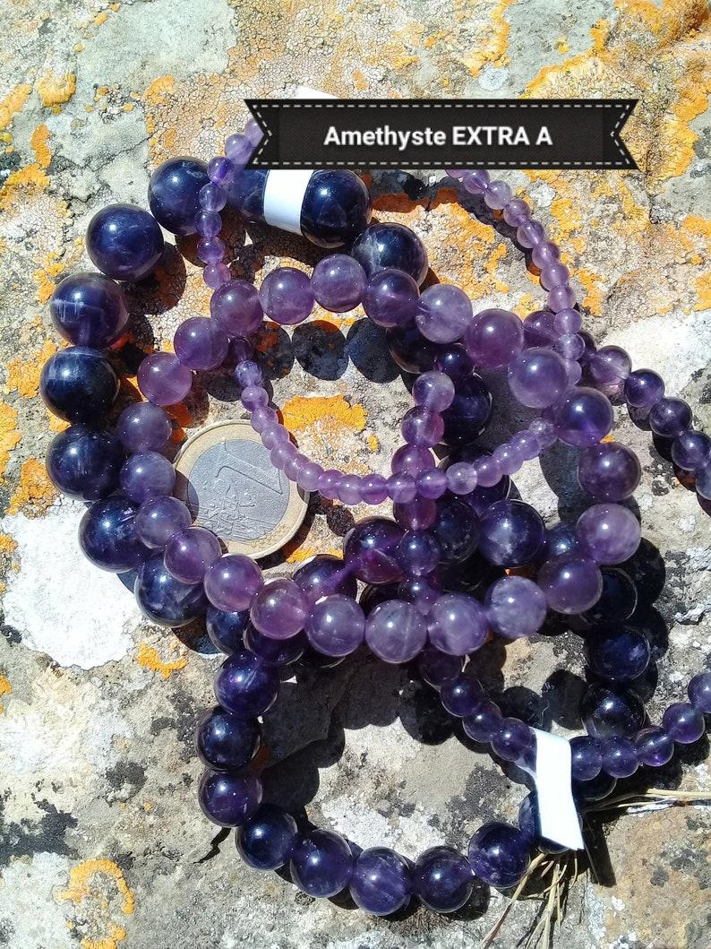 AMETHYST bracelet quality AA natural stone bracelet round image 0
