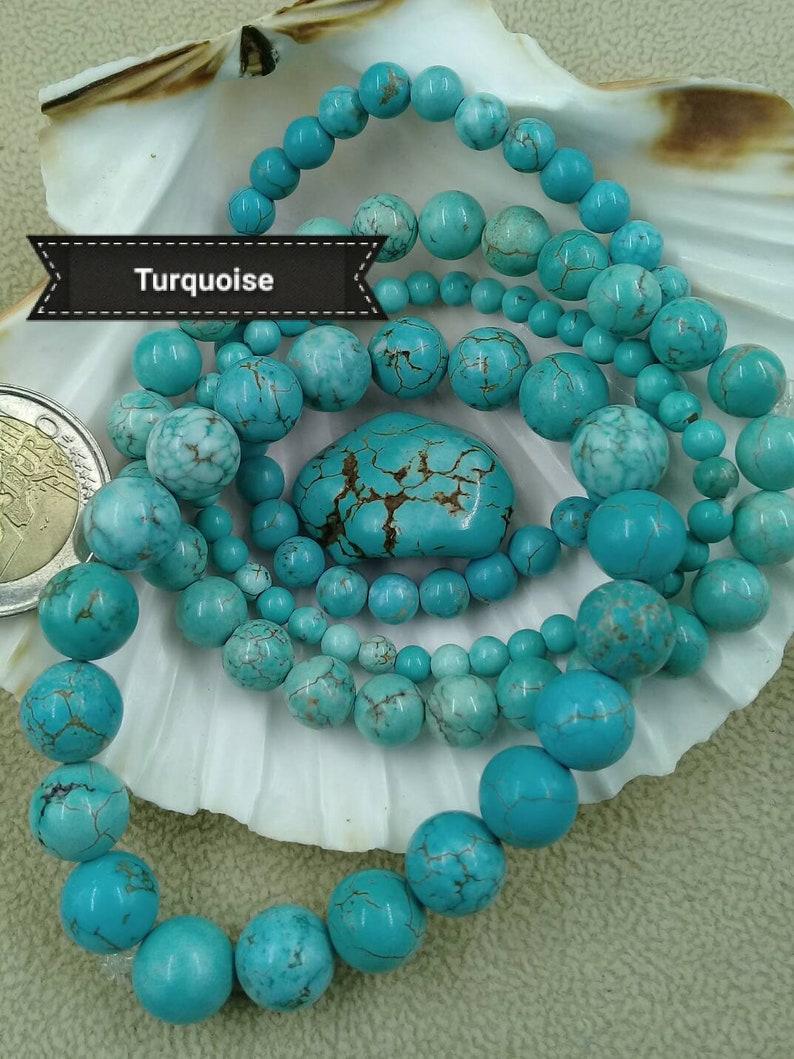 TURQUOISE bracelet natural stone bracelet semi precious image 0