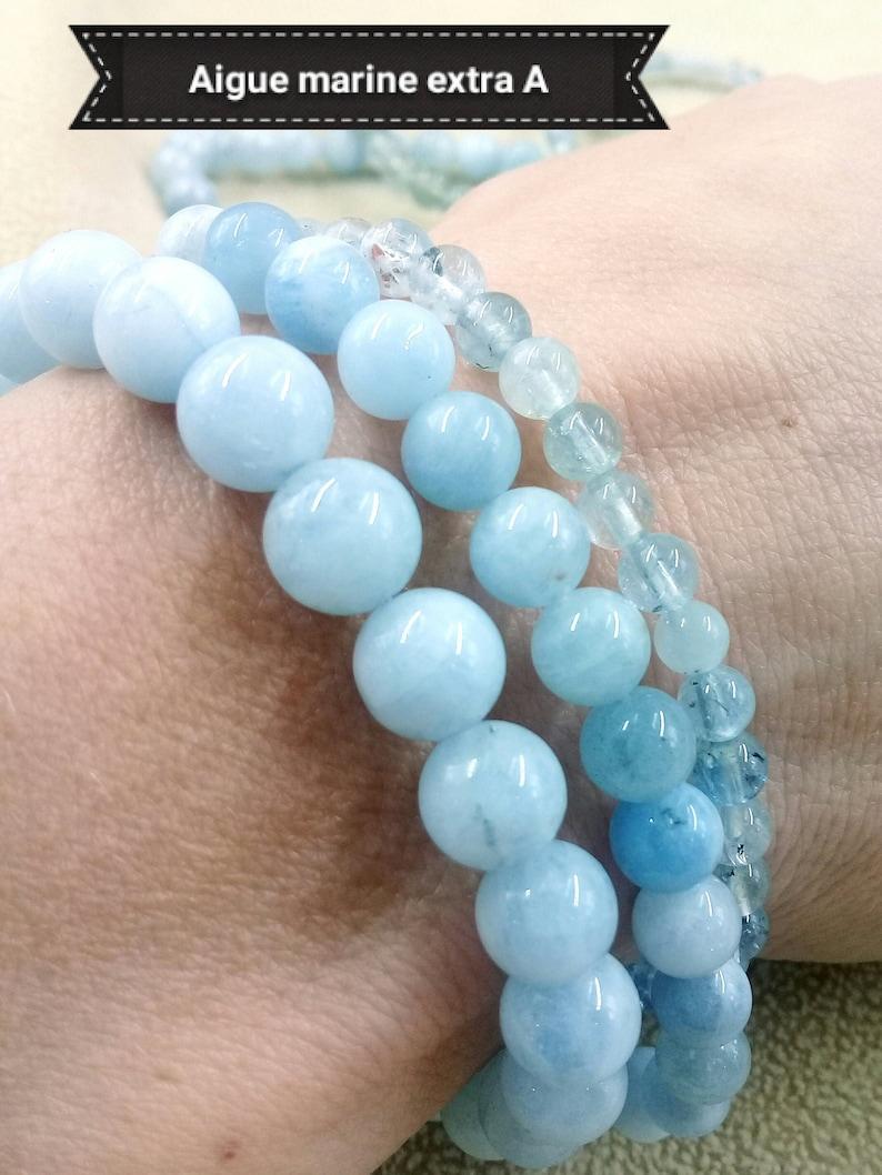 AQUAMARINE A bracelet natural stone bracelet semi precious image 0