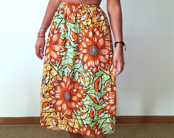 Skirt in African wax print