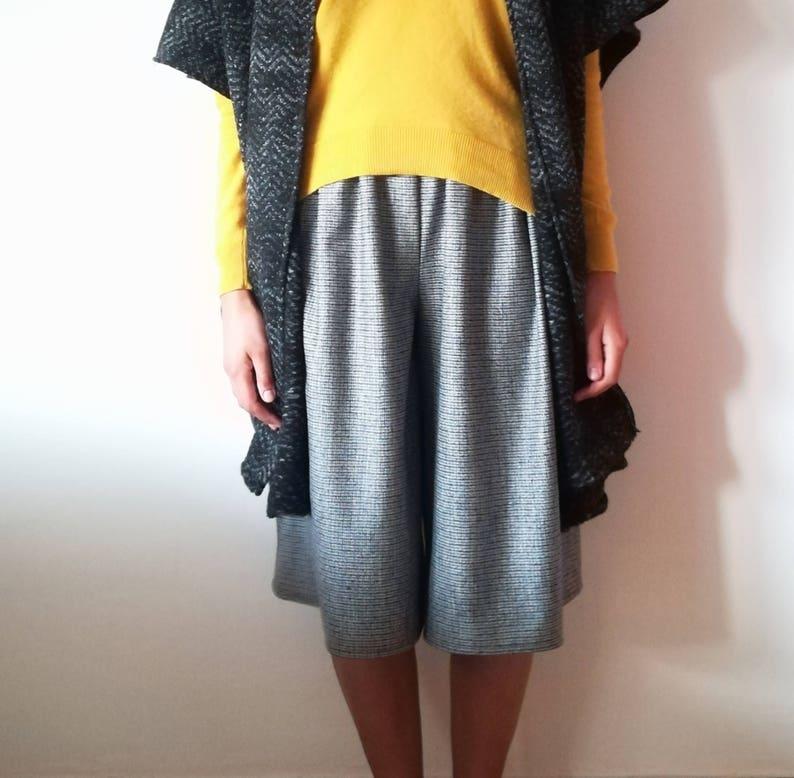 baca49c5d432 Pantaloni culotte in lana