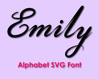 Full Alphabet SVG Fonts Cut File, Calligraphy font svg, png, dxf, eps, Cursive Fonts Svg, BRUSH SCRIPT Svg, Fancy Font, Silhouette & Cricut