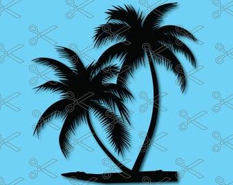 Palm Tree SVG, DXF, PNG, Eps Cut File, Palm Tree Silhouette, Tree Svg, Palm tree clipart, palm tree vector, beach svg, palm trees svg