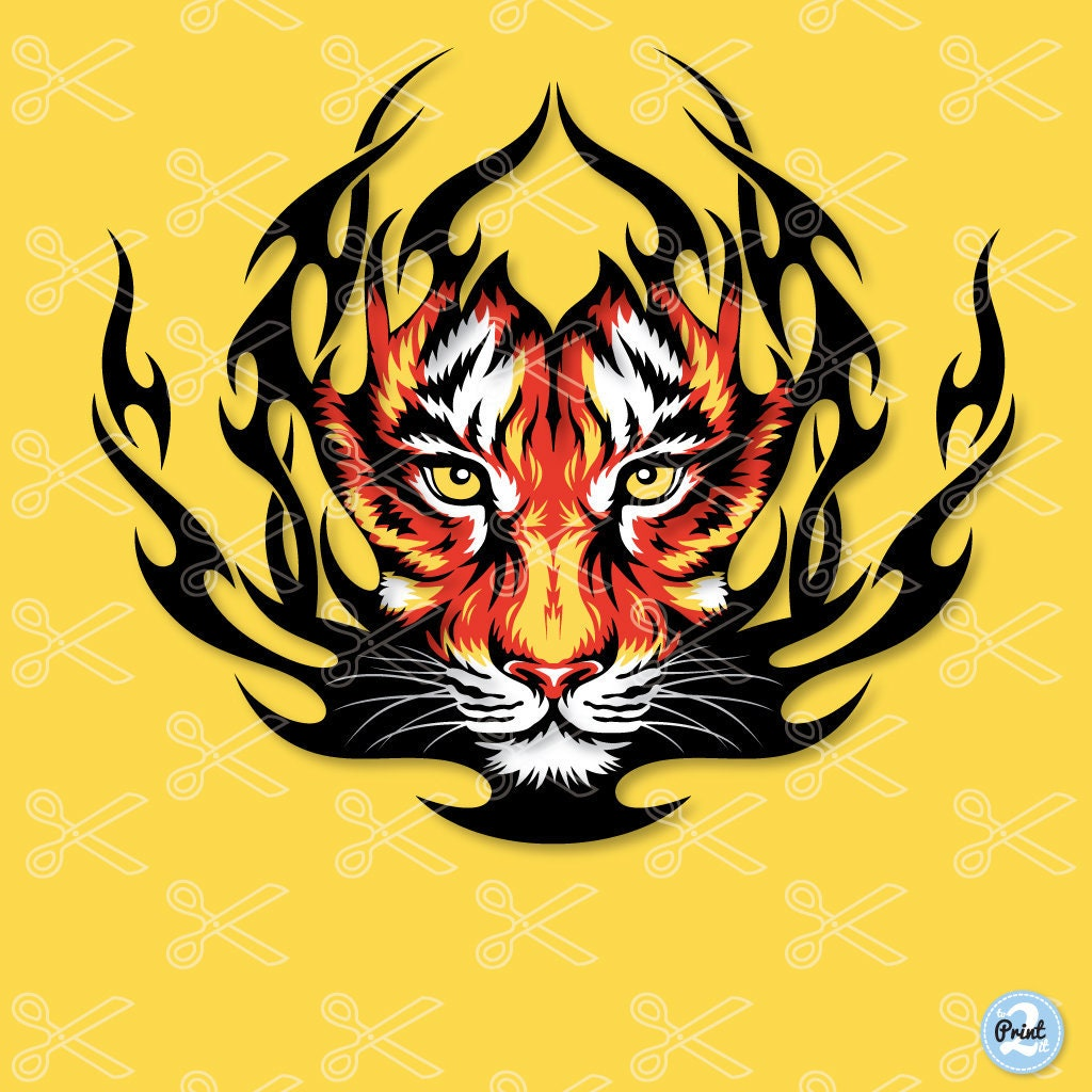 Tiger SVG PNG DXF Eps Cut Files Tiger head Svg for   Etsy