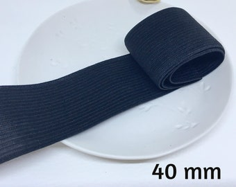 1 m elastic white or black ribbon 4 cm wide