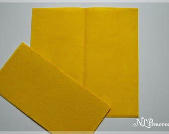 Felt 1 mm 30 x 30 cm yellow fabric