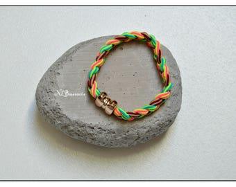 Multicolor stretch hair elastics
