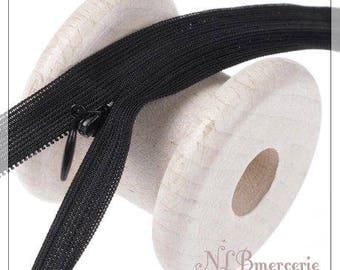 50cm black invisible zipper
