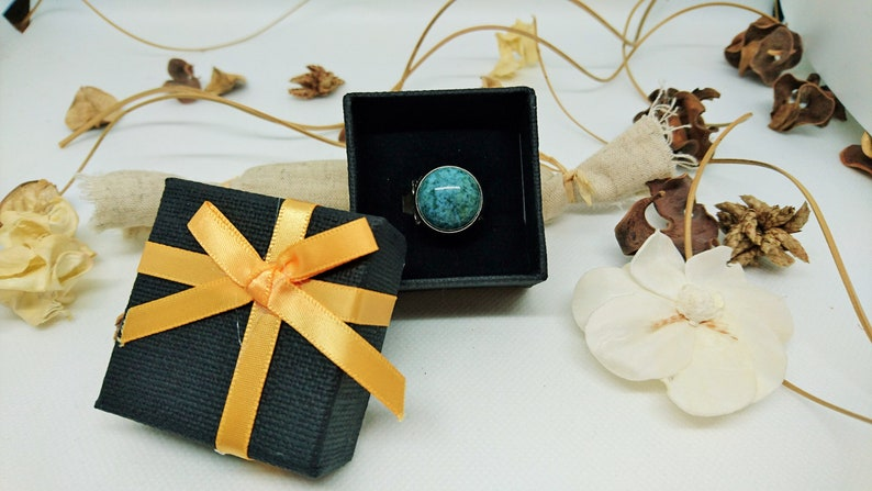 gift idea adjustable moss green Jasper stone Chiseled Ring ring with green stone unique creation for women silver