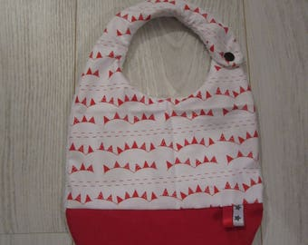 Red and white unisex bib