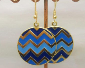 Lovely blue enamel round