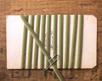 3/16 Ombre Ribbon Trim In Sage Green And Khaki Tones (1yrd.) T31