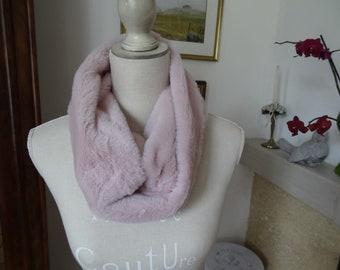 042010334df3 Col fausse fourrure rose pâle accessoire de mode Doux et  chaud 38cmx19cm extérieur ou intérieur accessoire de mode hiver