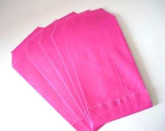 20 kraft raspberry - pink packaging bags