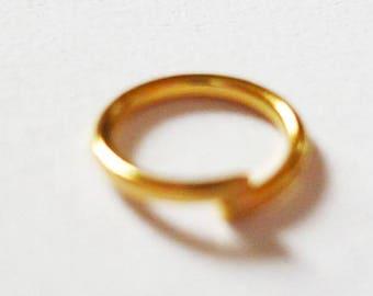 100 x 6mm - golden rings golden rings