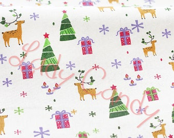 Fancy Christmas Reindeer Christmas tree gift width 150 cm fabric / sewing 150 x 48 cm #7209