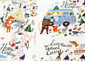 Fancy animals width 160 cm fabric / sewing 160 x 50 cm #7219