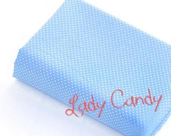 Fabric dots width 150 cm / Blue / sewing 150 x 50cm #7307