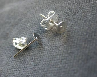 Set of 20 stems Support earrings customize silvered ready