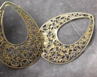 2 pair of earring to customize metal bronze