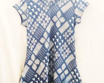 4f625801a7d1ac Fabindia Bio Indigo Hand Blockdruck indischen Baumwolle