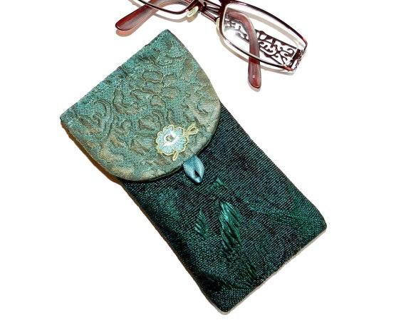 style populaire découvrir les dernières tendances sélectionner pour dernier Etui à lunettes souple pour femme, coloris vert. Pièce unique .