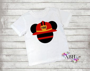 Firefighter Disney Ears/Infant/Toddler/Youth/Adult  tshirt/custom t shirt/Disney T shirts/Ears Family shirts,Red lives matter, Police Shirts