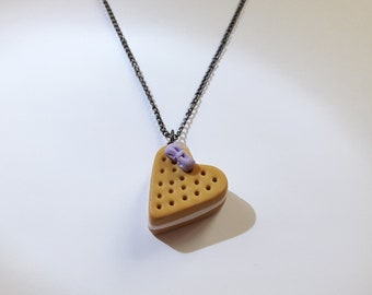 Cake Heart Necklace