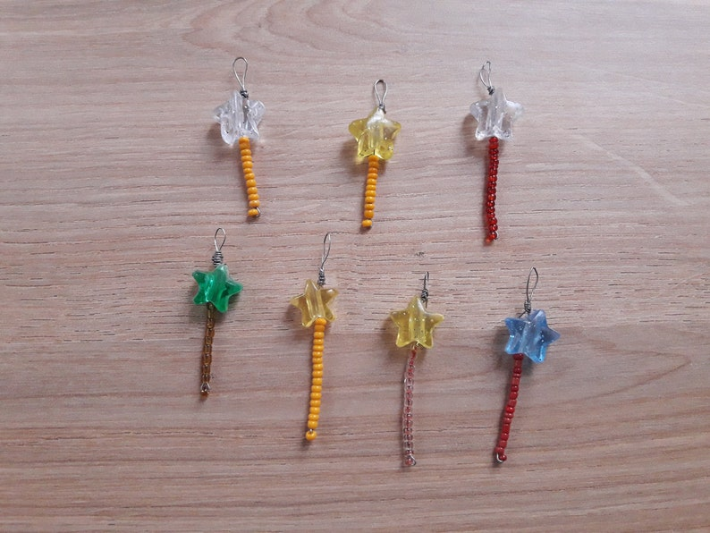 Games Magic Wand Jewelry Star Pendant Magic Wand Magic Star Pendant Children/'s Jewelry Lots of 7 Baguettes
