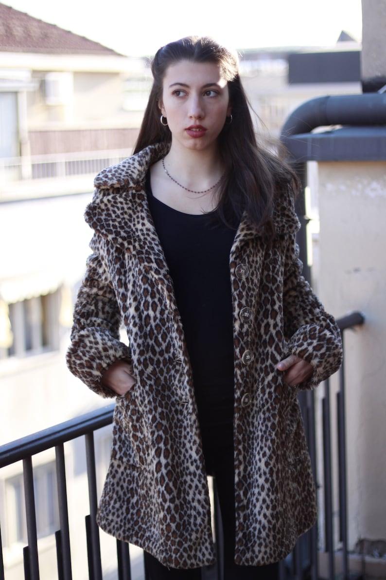 08807a439c35 80's FIORUCCI Cheetah Print Faux Fur Jacket / Original /   Etsy