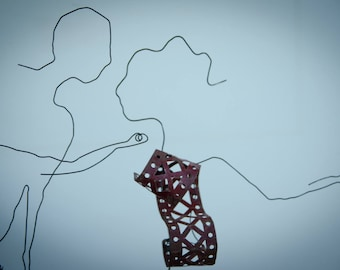 M and Ms MECANO sculpture wire and old mechanics