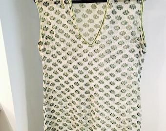 Silk embellished tunic