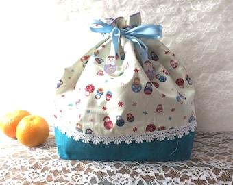 Drawstring bag - russian dolls
