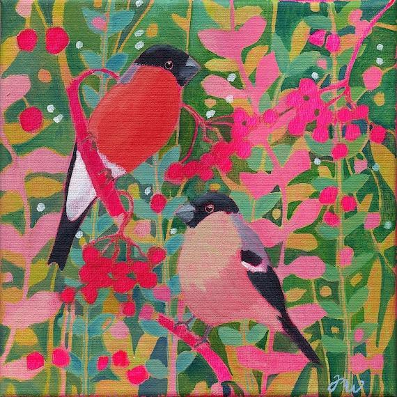 Bird art print Bird poster birds minimalist art print Colorful art print Housewarming decor Kingfisher retro art print