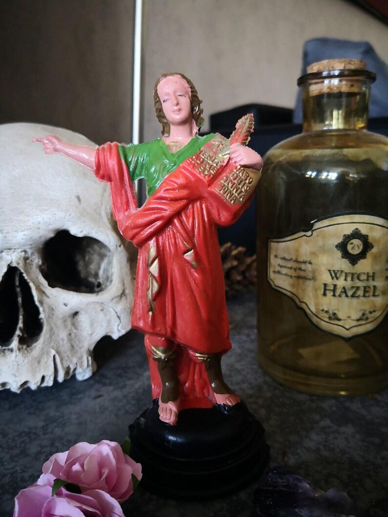 Statue of Saint Pancrace martyr shrine ritual health work Santeria Hoodoo