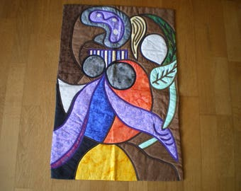 patchwork wall reproduction of painting by Picasso