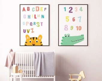 Number and Alphabet Print