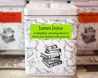 James Joyce Inspired Tea - Author - Literary Tea Collection - Tea Gift - Literary Tea Gift - Bookish Gift - Author Gift - Tea