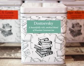 Fyodor Dostoevsky Inspired Tea - Literary Tea Collection - Tea Gift - Literary Tea Gift - Bookish Gift - Author Gift- Loose Leaf Tea - Tea