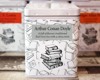 Arthur Conan Doyle Inspired - Literary Tea Collection - Tea Gift - Literary Tea Gift - Bookish Gift - Author Gift- Loose Leaf Tea - Tea