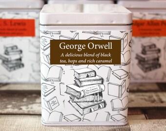 George Orwell Inspired Tea - Literary Tea Collection - Tea Gift - Literary Tea Gift - Bookish Gift - Author Gift- Loose Leaf Tea - Tea