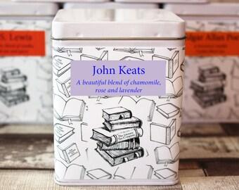 John Keats Inspired Tea - Literary Tea Collection - Tea Gift - Literary Tea Gift - Bookish Gift - Author Gift- Loose Leaf Tea - Tea