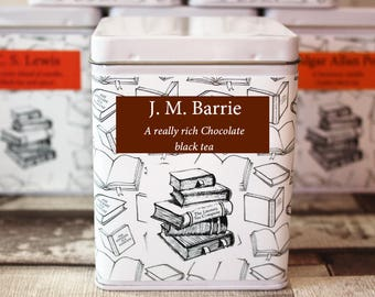J. M. Barrie Inspired Tea - Author - Literary Tea Collection - Tea Gift - Literary Tea Gift - Bookish Gift - Author Gift - Tea