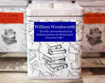 William Wordsworth Inspired Tea - Poet - Literary Tea Collection - Tea Gift - Literary Tea Gift - Bookish Gift - Author Gift - Tea