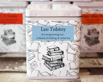 Leo Tolsoy Inspired Tea - Literary Tea Collection - Tea Gift - Literary Tea Gift - Bookish Gift - Author Gift- Loose Leaf Tea - Tea