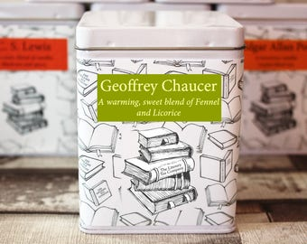 Geoffrey Chaucer Inspired Tea - Literary Tea Collection - Tea Gift - Literary Tea Gift - Bookish Gift - Author Gift- Loose Leaf Tea - Tea